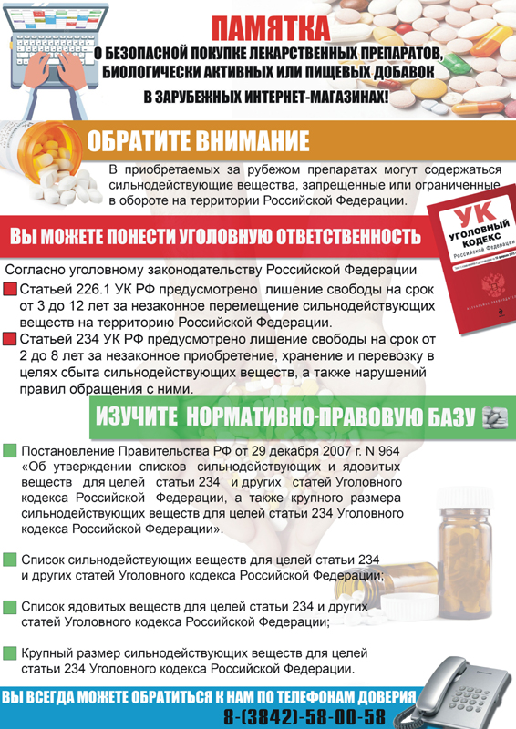 Памятка о безопасной покупке лекарственных препаратов